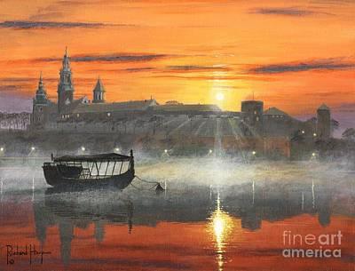Krakow Painting - Wawel Sunrise Krakow by Richard Harpum