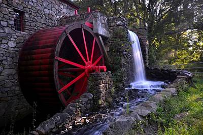 Wayside Inn Grist Mill Print by Toby McGuire