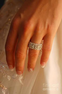 Bride Photograph - Wedding Ring by Michal Bednarek
