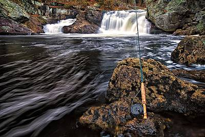 White River Scene Photograph - 1 Weight On The Isinglass. by Jeff Sinon