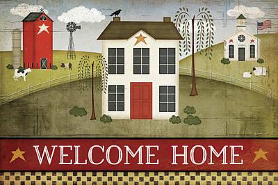 Welcome Home Print by Jennifer Pugh