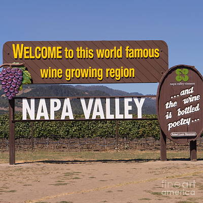 Napa Valley And Vineyards Photograph - Welcome To Napa Valley California Dsc1681 by Wingsdomain Art and Photography