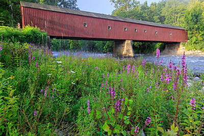 West Cornwall Covered Bridge Print by Bill Wakeley