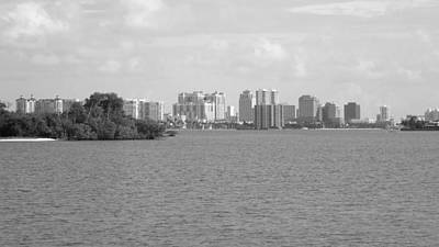 Galleries On Line Photograph - West Palm Beach From The Intercoastal by Ron Davidson
