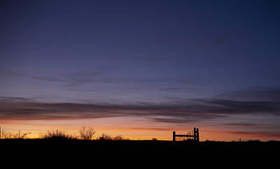 West Texas Sunset Print by Melany Sarafis