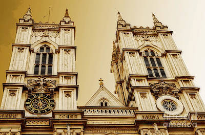 Westminster Abbey Digital Art - West Towers Of Westminster Abbey by MaryJane Armstrong