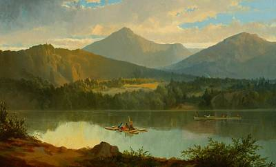 Contemplative Painting - Western Landscape by John Mix Stanley