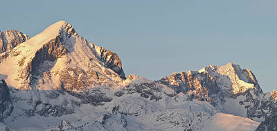 Wetterstein Mountain Range In Winter Print by Martin Zwick