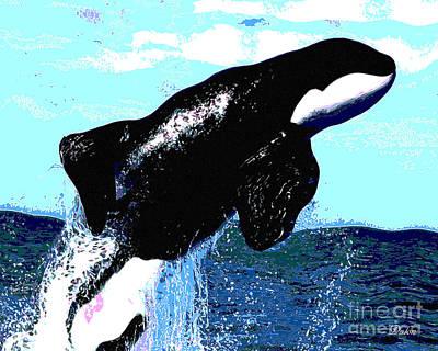 Orca Digital Art - Whale Splash by Dalon Ryan