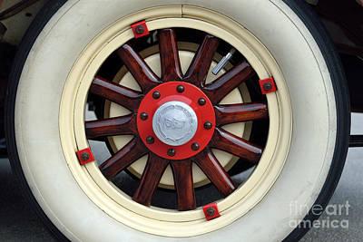 Old Photograph - Wheel Of 1930 Dodge Da 6 by George Atsametakis