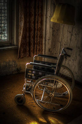 Wheelchair View  Print by Nathan Wright