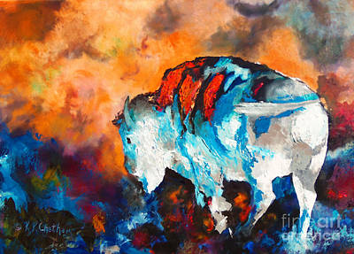 White Buffalo Ghost Original by Karen Kennedy Chatham