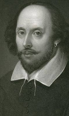 William Shakespeare Print by English School