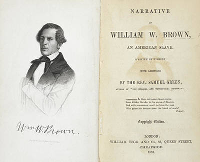 William W. Brown Print by British Library