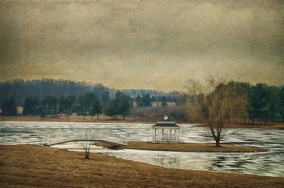 Willow Lake  Print by Kathy Jennings