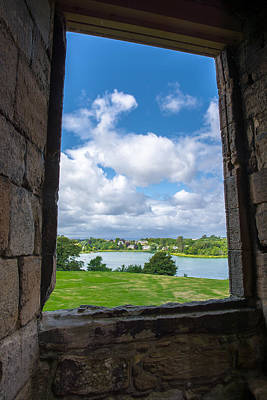 Window In Linlithgow Palace With View To A Beautiful Scottish Landscape Print by Andreas Berthold