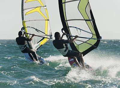 Windsurfing Tarifa, Cadiz, Andalusia Print by Ben Welsh