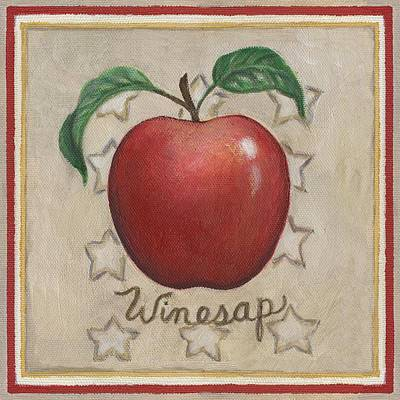 Apples Painting - Winesap Apple Two by Linda Mears