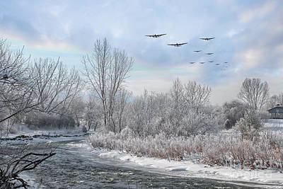 Winter Bombers  Print by J Biggadike