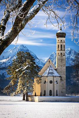 Winter Church In Bavaria Original by Brian Jannsen