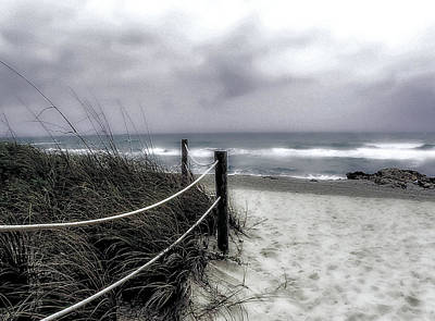 Winter Day At The Beach Print by Julie Palencia