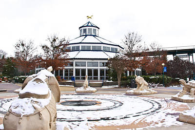 Gold Horse Photograph - Winter In Coolidge Park by Tom and Pat Cory