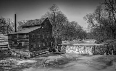 Muscatine Photograph - Winter Mill by Ray Congrove