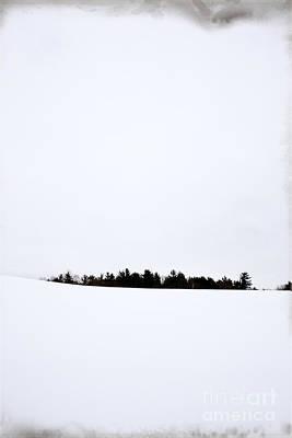 Winter Minimalism Print by Edward Fielding