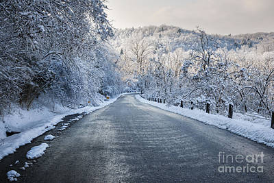 Hoarfrost Photograph - Winter Road by Elena Elisseeva