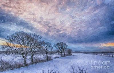Winter Sunrise Print by Antony McAulay