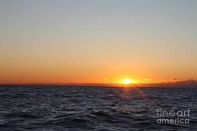Telfer Photograph - Winter Sunrise Over The Ocean by John Telfer