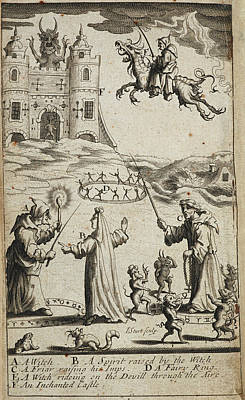 Witches And Demonology Print by British Library