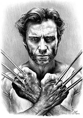 Science Fiction Drawing - Wolverine by Andrew Read