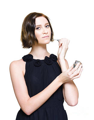 Woman Applying Perfume Fragrance Print by Jorgo Photography - Wall Art Gallery