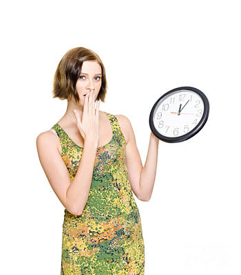 Woman Late For The Time Schedule Deadline Print by Jorgo Photography - Wall Art Gallery