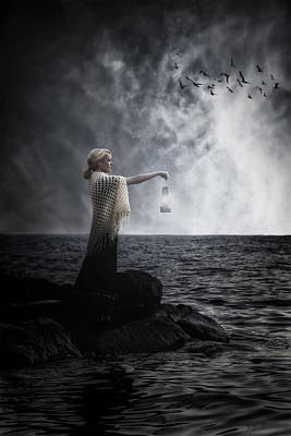 Evening Gown Photograph - Woman With Lantern by Joana Kruse