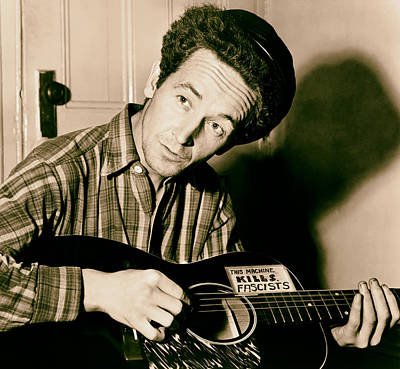 Woody Guthrie Photograph - Woody Guthrie 1943 by Mountain Dreams