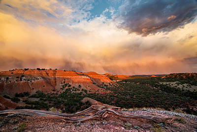 Bighorn Photograph - Wyoming Sunset by Leland D Howard