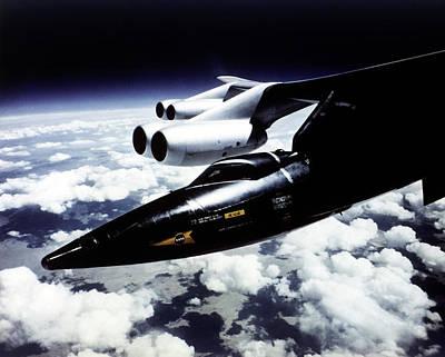 Aeronautics Photograph - X-15 Aircraft On A Boeing B-52 by Nasa