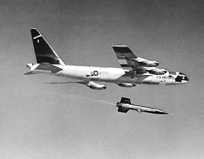 X-15 Launch From A Boeing B-52 Print by Nasa