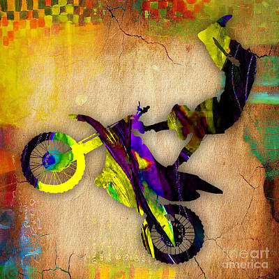 Motorcycle Mixed Media - X Games by Marvin Blaine