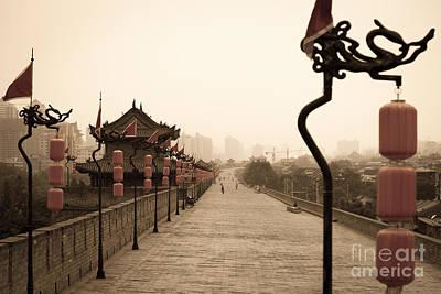 Xi'an City Wall China Print by Fototrav Print