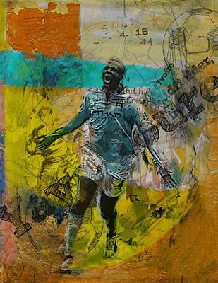 Qatar Painting - Yaya Toure by Corporate Art Task Force