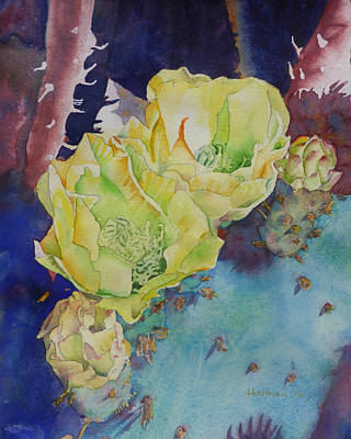 Resolution Painting - Yellow Prickly Pear by Melanie Harman