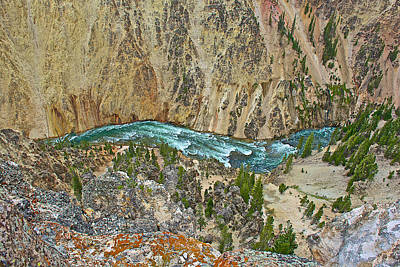 Yellowstone River In Grand Canyon Of The Yellowstone In Yellowstone National Park-wyoming Original by Ruth Hager