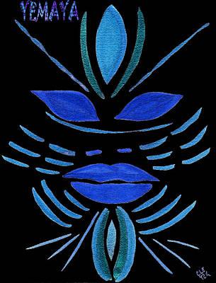 Yemaya Painting - Yemaya by Cleaster Cotton