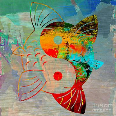 Yin Yang Koi Print by Marvin Blaine