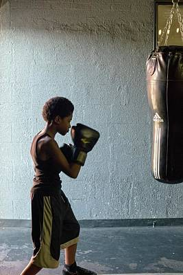 Boys Boxing Photograph - Youth Boxing Gym by Jim West