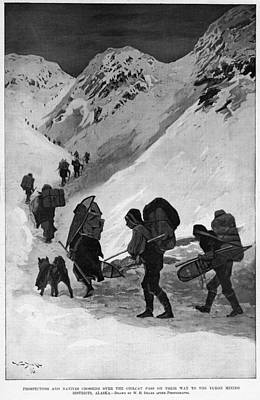 Drake Drawing - Yukon Gold Rush, 1896 by Granger
