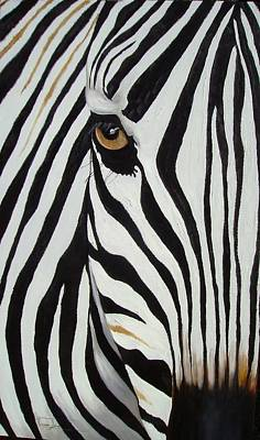 Painting - Zebra Abstract by Vanessa Lomas